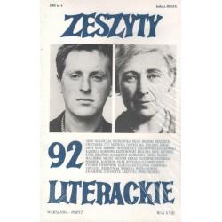 Zeszyty Literackie nr 92